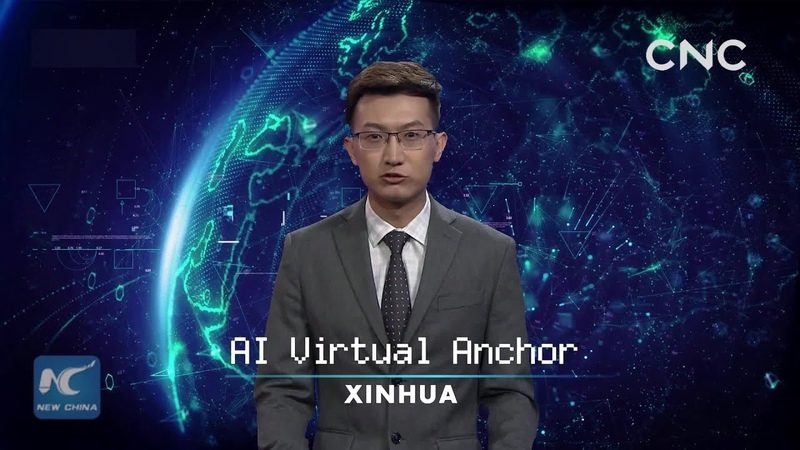 Xinhua AI anchor presents CIIE news reports