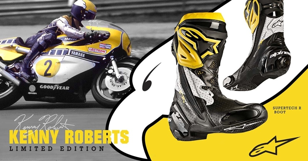 Мотоботы Alpinestars Supertech R Kenny Roberts Edition