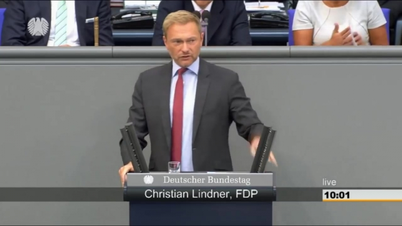 Tumulte bei der Rede von Christian Lindner (FDP) Hofreiter bekommt Ansage von Lindner (12.09.2018)