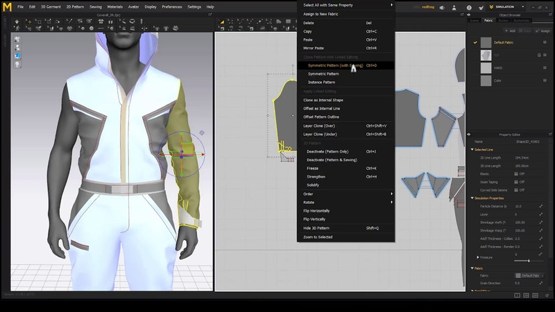 Making a Sci Fi Overall in Marvelous Designer 6.5 - Chapter 10