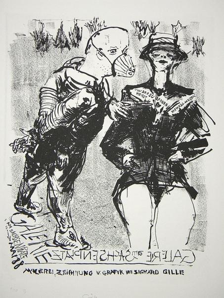 Sighard Gille (1941, Eilenburg, Germany) - немецкий художник, скульптор, фотограф..Профессор живописи в высшей школе графики и книжного искусства в Лейпциге.