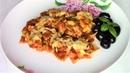 Вкуснейшие макароны в томатном соусе с куриным филе и сыром на сковороде