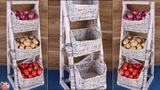 Space Saving... DIY Kitchen Organizer Best Out Of Waste News Paper Idea