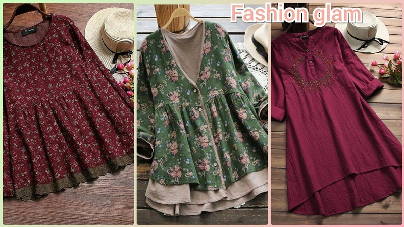 Vintage short shirts and lace blouse designs for women