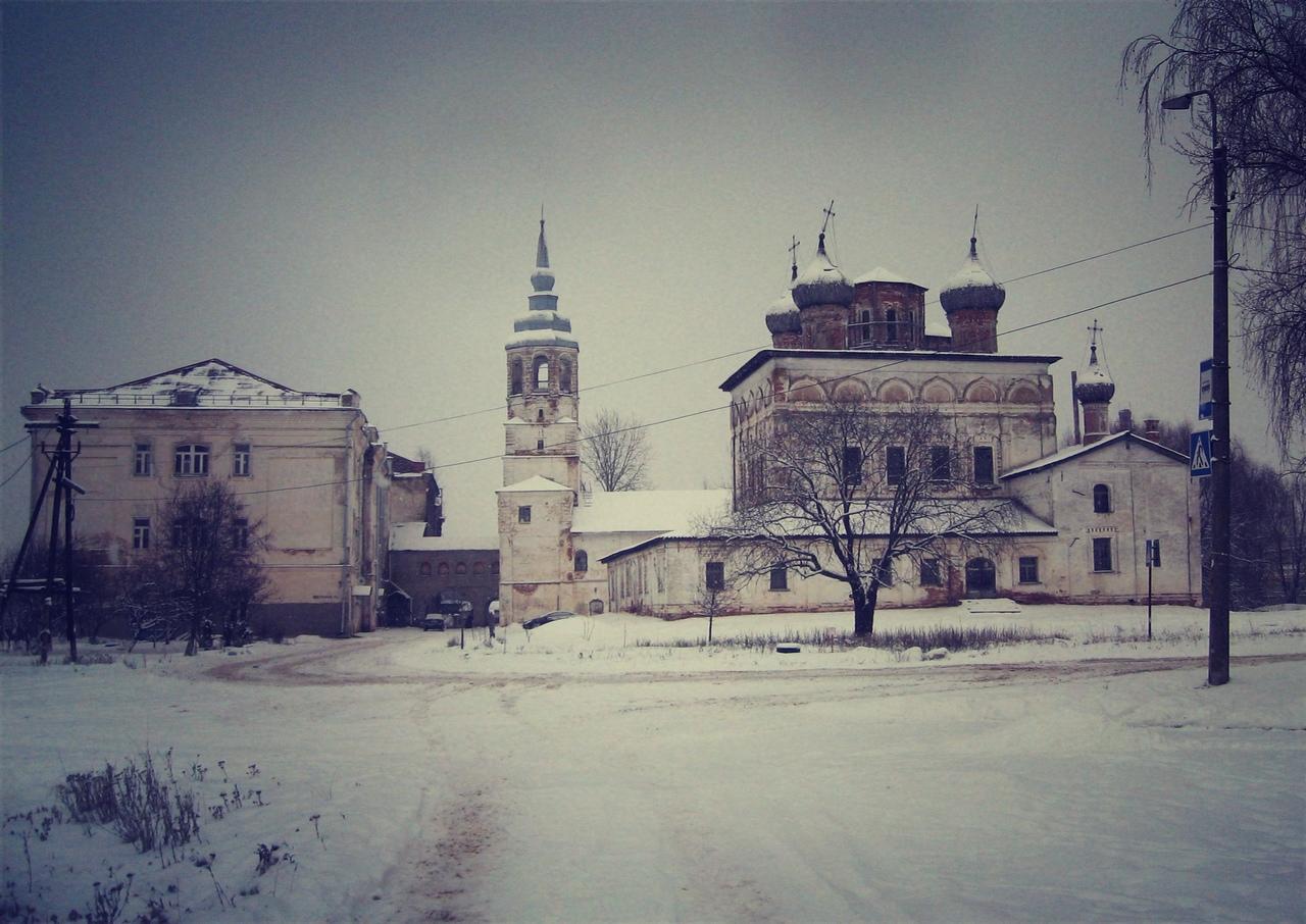 Зимний Новгород. Неизвестные окраины: Деревяницкий монастырь.Церкви Иоанна Богослова,Бориса и Глеба