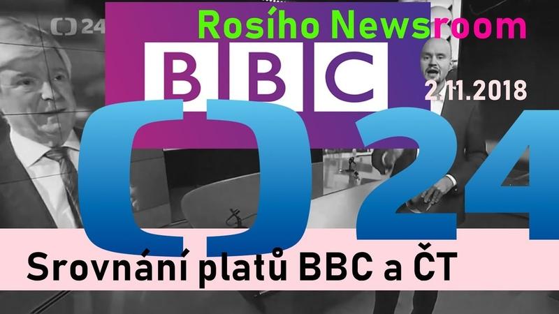 Srovnání platů BBC a ČT Newsroom o BBC 2 12 2018