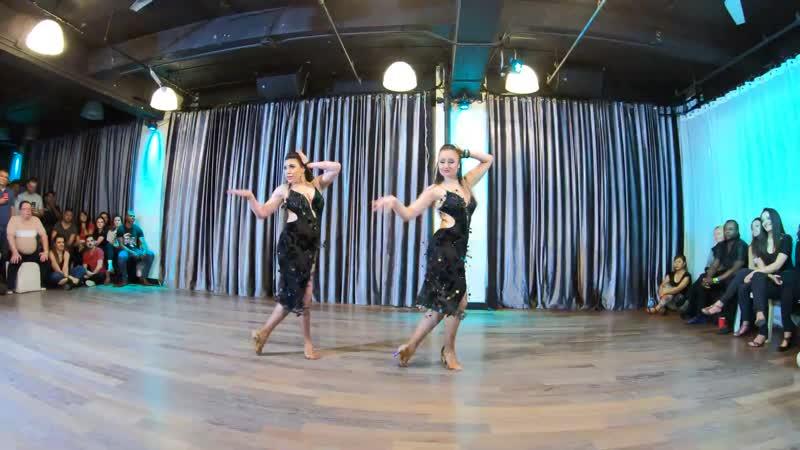 Kassandra u Anastasiya at the Baila Con Gusto Night on November 22nd 2018