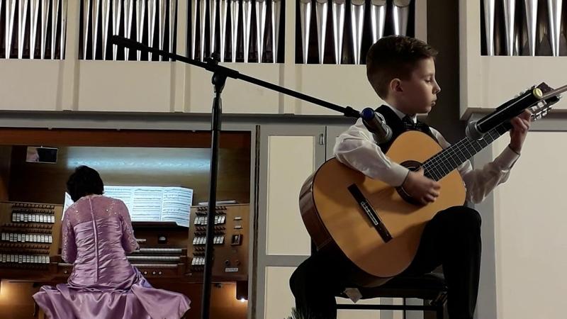 Концерт в консерватории 14 01 19 Орган в подарок детям Лепешкин Егор 10 лет с органисткой Марией Бл
