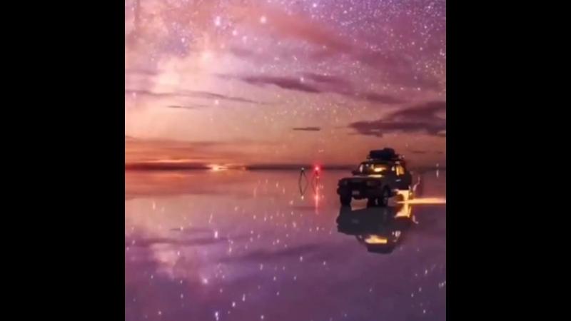 Волшебный таймлэпс, звездное небо