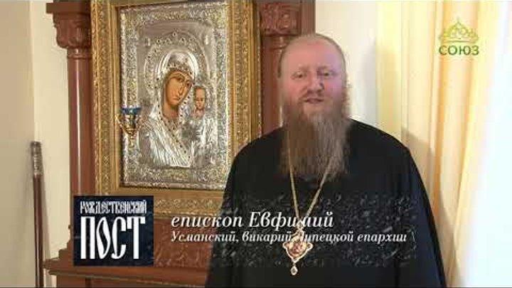 Наставление на Рождественский пост. Евфимий, епископ Усманский, викарий Липецкой епархии