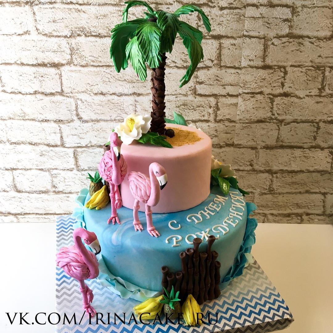 Торт с фламинго (Арт. 438)