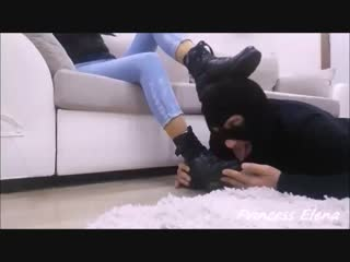 Princess Elena Bot Sock worship and Sockjob Kısa.mp4