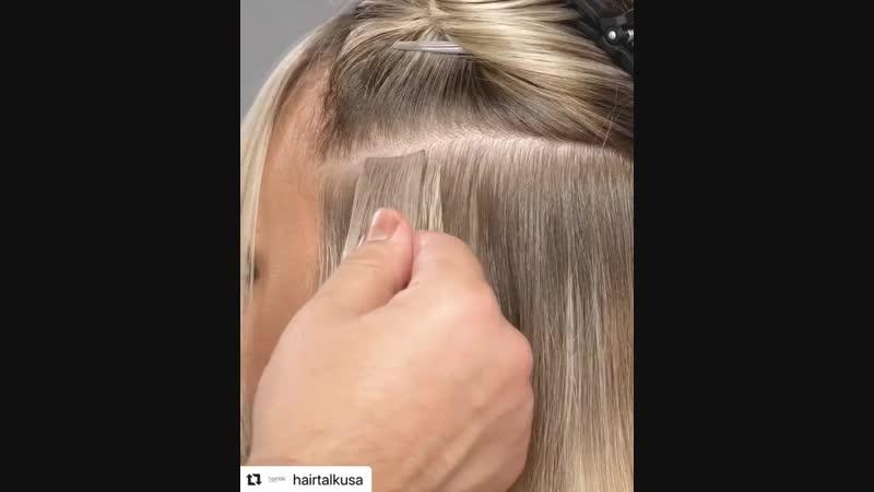 Пряди с имитацией Роста Волос 💁🏼♀️Никто , никогда не догадается , что волос нарощенный 😉 __ Волосы ( ленты , Трессы