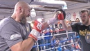 Tyson Fury DESTROYS PADS in Training Camp * FULL MEDIA WORKOUT * Boxing