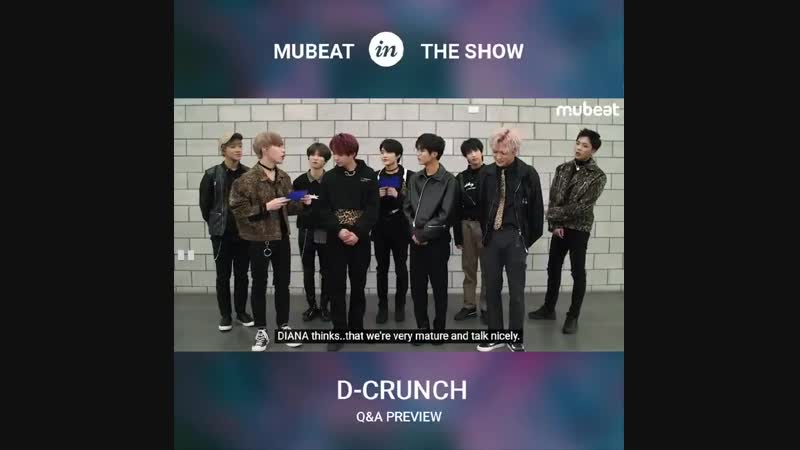 Whats the last one thing that DIANA - doesnt know about D_CRUNCH - - Watch the Full ver on Mubeat NOW! -