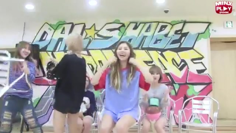 Siyeon about to beat yoohyeons ass for not giving her candy 2015