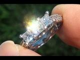 Past Present Future VS1G Princess 3 Stone Diamond Engagement Anniversary 14k Gold Ring - C730