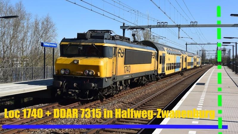 Loc 1740 DDAR 7315 komt met een leuke tyfoon door Halfweg-Zwanenburg