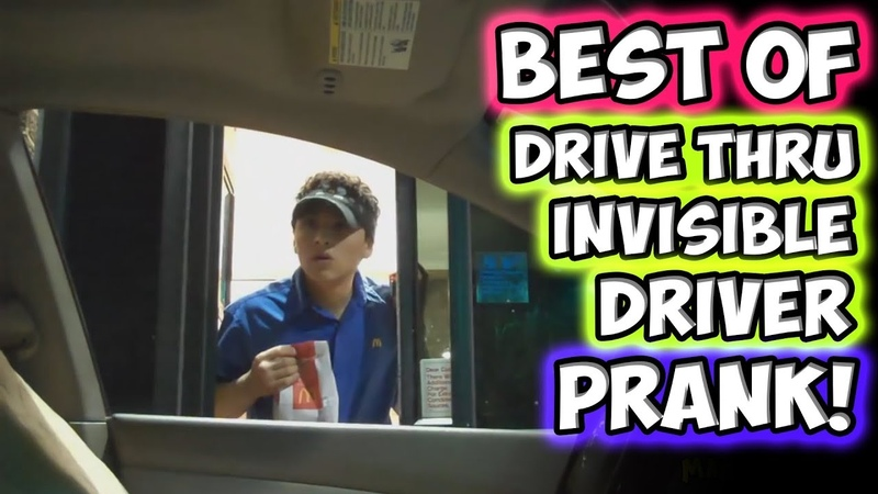 Best of Drive Thru Invisible Driver Prank