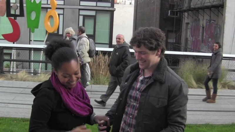 Surprise Marriage Proposal on The High Line in New York City