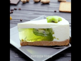 Желейный торт с киви