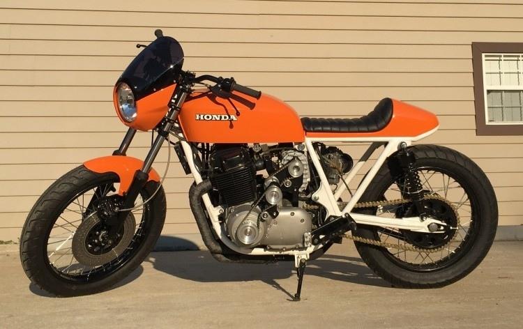 Джастин Блу: заряженный кафе рейсер Honda CB750