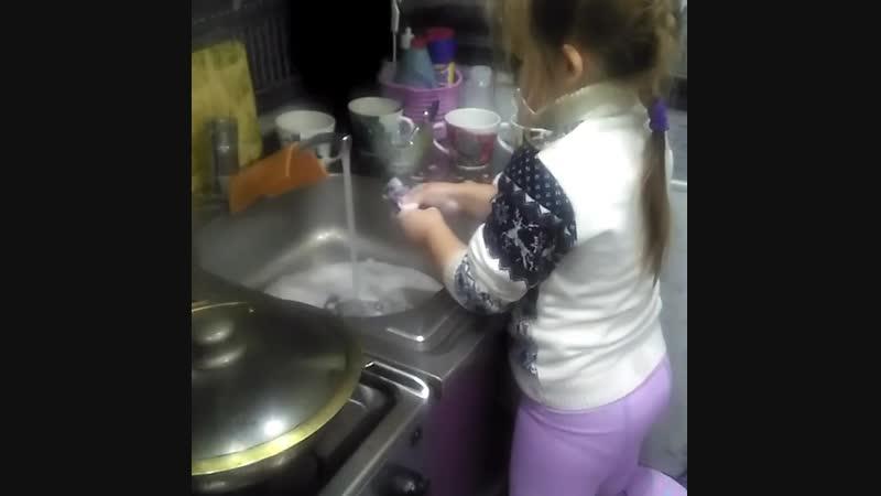 моя помощница моя доченька