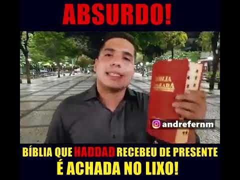 URGENTE HADDAD JOGA FORA BÍBLIA QUE GANHOU EM FORTALEZA