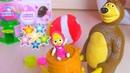 Влог Распаковка сюрпризов Маша и Медведь и Шоколадные яйца для девочек. Необычный сквиши Антистресс