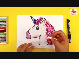 Как нарисовать ЕДИНОРОГА Радугу _ Уроки рисования для детей _ Простые рисунки