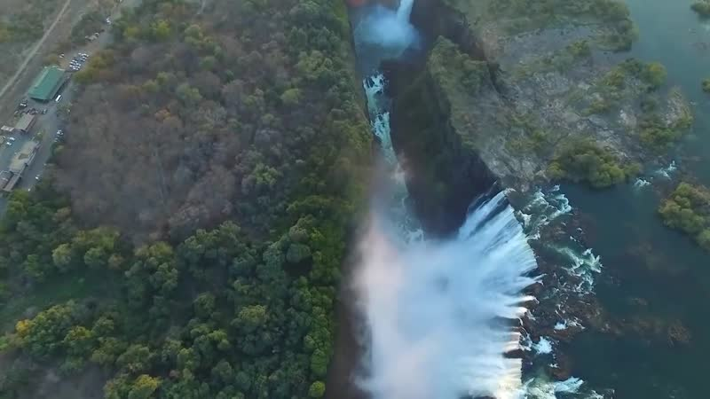 Водопад Виктория с высоты, Африка