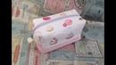 ボックスポーチ作ってみた&作り方 kawaii pouch 裏地付き 縫い代の見えない作