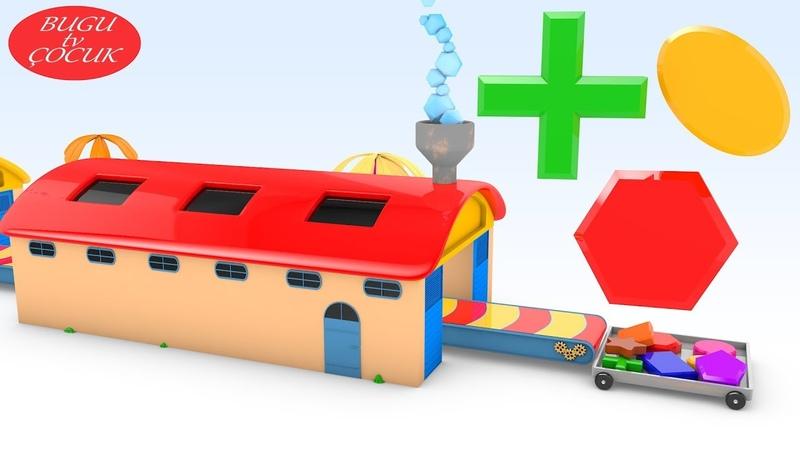 Oyuncak Şekiller Fabrikası ile Şekilleri Öğreniyorum - Bebekler için Renkler ve Şekiller Videosu