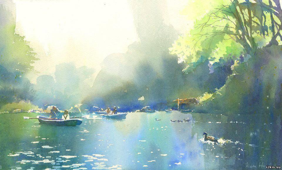 Японский художник акварелист Канта Харусаки (Kanta Harusaki)