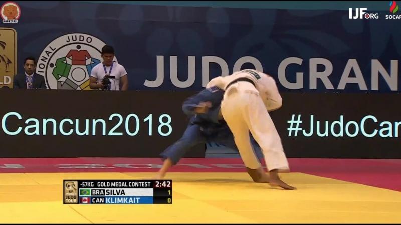 Рафаэла Сильва - Джессика Климкаит в финале Гран-при Канкуна 2018