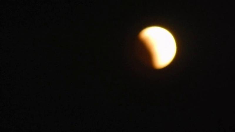 полное лунное затмение и великое противостояние Марса. город Орёл 27 июля 2018 год