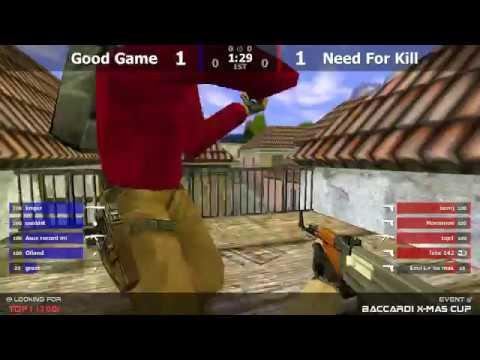 Групповой этап турнира по CS 1.6 BACCARDI HOUSE [Good Game -vs- Need For Kill] @ by kn1fe