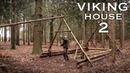 Building a Viking House in the Forest: Timber Frame | Bushcraft Project (PART 2)
