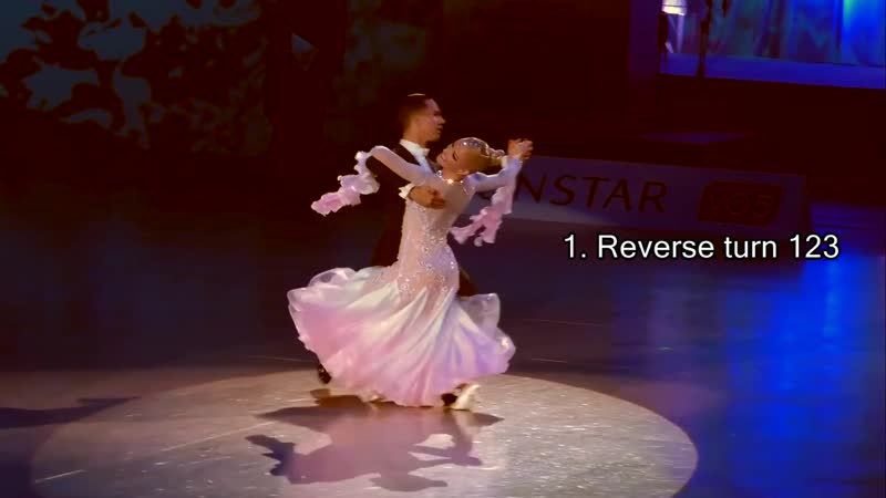 3_How to dance waltz reverse turn, whisk, progressive chasse and outside natural turn.