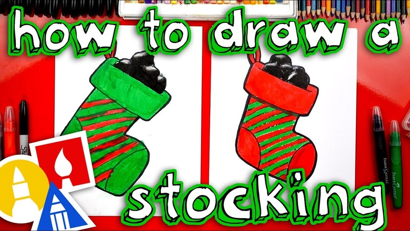 How To Draw A Stocking Full Of Coal