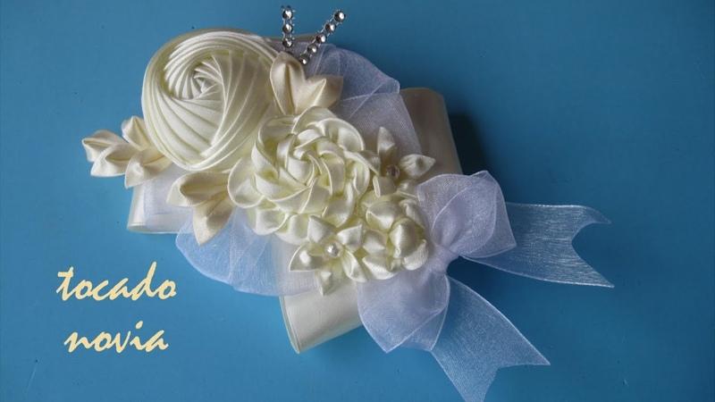 DIY - Moño o tocado de novia. - bow or bridal headdress