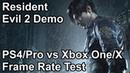 Resident Evil 2 Remastered PS4 vs PS4 Pro vs Xbox One X vs Xbox One Frame Rate Comparison (Demo)