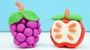 Hacemos las frutas de plastilina. Juguetes de Play doh en español.