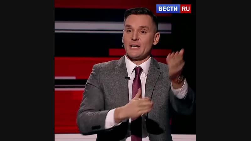Скандал в эфире! Куликов запустил стаканом наглого поляка Корейбу! Вечер с Владимиром Соловьевым от 18.12.18