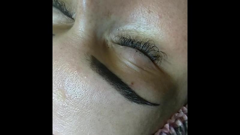 Пудровые бровки в технике Напыление.✍️ Перманентный макияж бровей - это отличный способ придать взгляду глубины, подчеркнуть дос