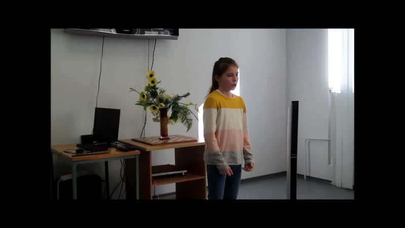 Стихотворение Агнии Барто Я выросла читает воспитанница Охтинского центра эстетического воспитания