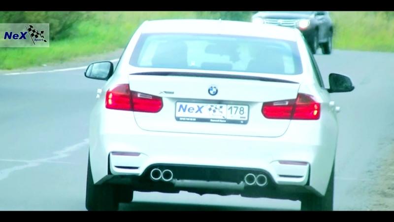 NeX® BMW 328 XDRIVE ЭКСКЛЮЗИВ Глушитель раздвоенный 4 насадки Ø 76 мм Трансформация в M3