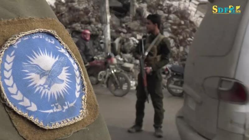 Военная полиция на службе в Ракке. 06.01.2019