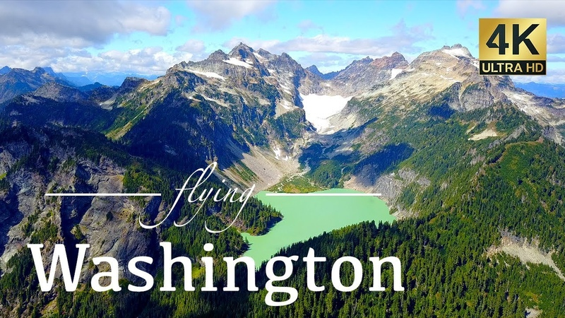 Washington State By Drone Mount Baker Cape Disappointment Seattle More 4K Travel Drone Footage