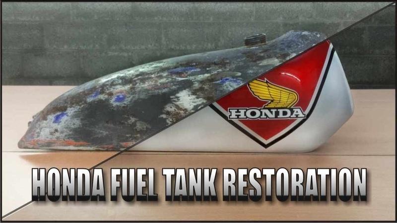 Motorcycle Fuel Tank Restoration ( Honda TL125 70s)